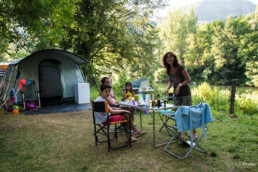 Camping les prades emplacement tente familial