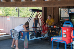camping les Prades aniamtions flippers jeux arcade