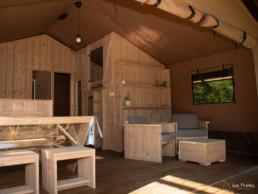 Camping Prades hébergment insolite cabane châlet
