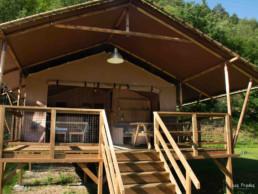 Camping Prades cabane gorges du Tarn famille