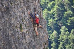 camping les Prades escalade falaise naturelle