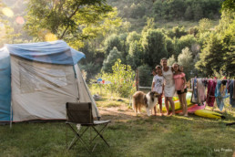 Camping prades aveyron emplacement bord riviere