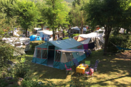 camping les Prades peyreleau tentes camping-car