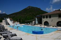 camping les Prades espace piscine toboggan